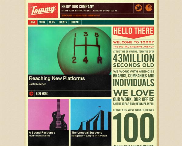 Винтажный дизайн сайта