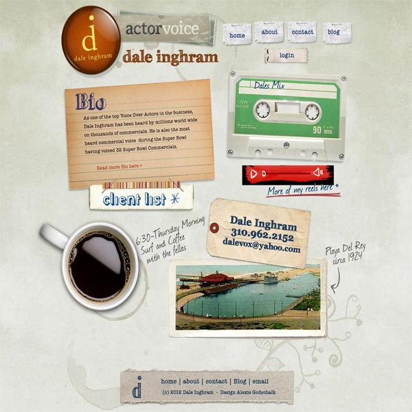 Сайт с винтажным дизайном